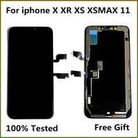 100% prueba LCD Pantalla para iPhone X LCD 10 XS Pantalla LCD de montaje de digitalizador con Pantalla táctil para iPhoneX XS Max XR 11 OLED