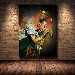 Rock and Rap Star Collection Oil Painting Canvas Painting HD Print Living Room Bedroom Decoration Painting Support Customization