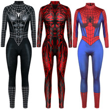 Superhero Sexy Jumpsuit Catsuit Character Venom Cosplay Costumes Halloween Women Bodysuit Fancy Dress
