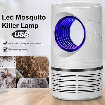 5W LED Lamps Mosquito Trap Light Anti-Mosquito Repeller Killer Pest Control USB Flying Pests Lamp for Indoor & Outdoor