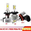 Новинка 2 шт. H11 H8 H7 9006 светодиодный H1 H3 9005 HB3 HB4 автомобильный противотуманный фонарь светодиодный лампы 80 Вт 12000LM 3000 К 6000 8000 К Ice Blue стайлинга а...