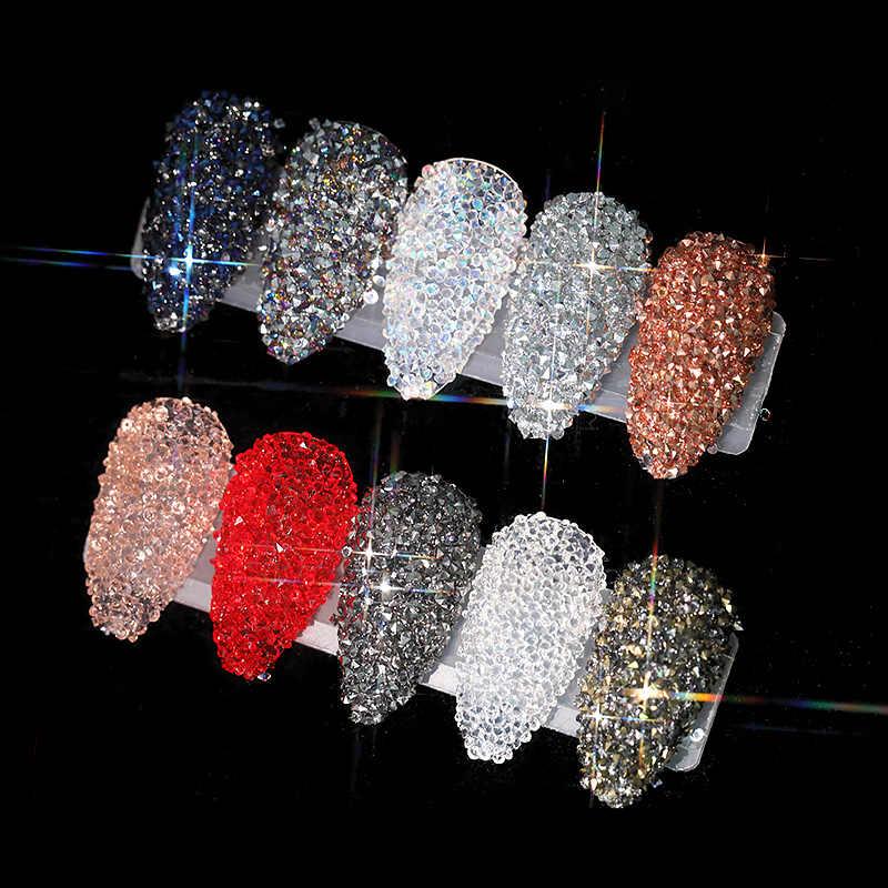 Diamantes de imitación decoración artística de uñas 3D para uñas strass uv gel micro circonitas piedras de cristal zirconio para decoración de uñas