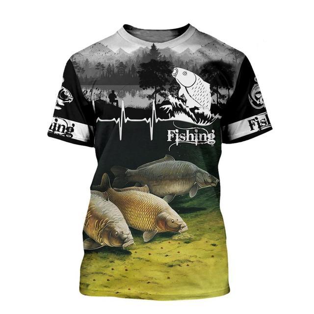 Carp lifeline fishing T shirt all over print