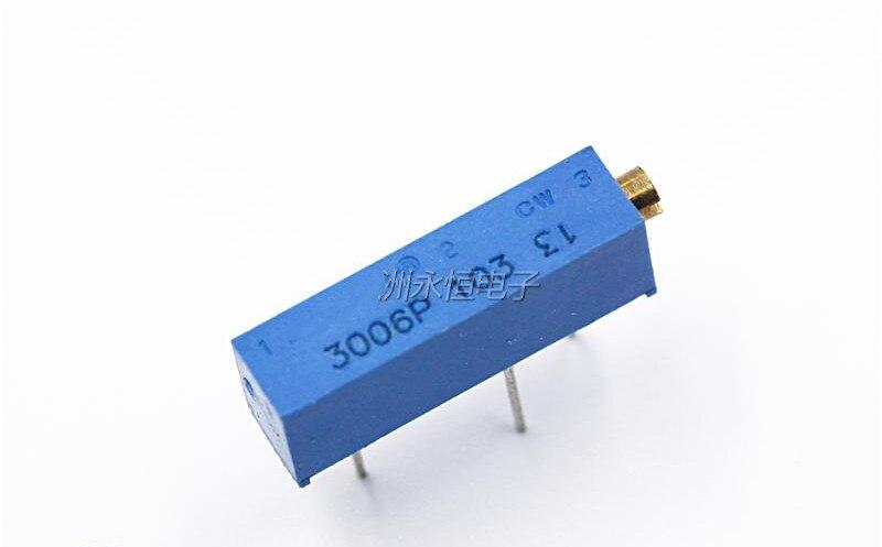 20pcs 3006P 501 103 204 105 Trimpot Trimmer del Potenziometro 100 200 500 ohm 1k 2k 5k 10k 20k 50k 100k 200k 500k 1M ohm