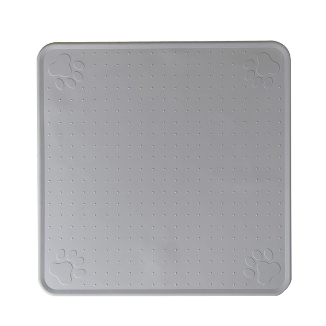 83 Grey-48*27cm Pet Dog Puppy Cat Feeding Mat Pad