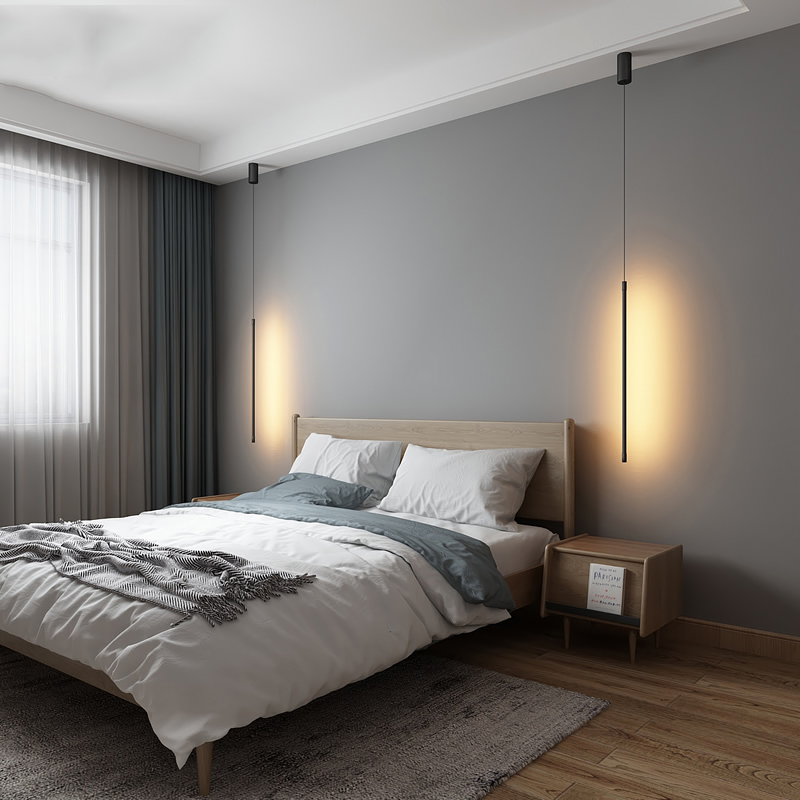 Modern LED Pendant Lights Suspended Nordic Loft Dimming Pendant Lamp Living Room Bedside Lamp Hanglamp Kitchen Light Fixtures