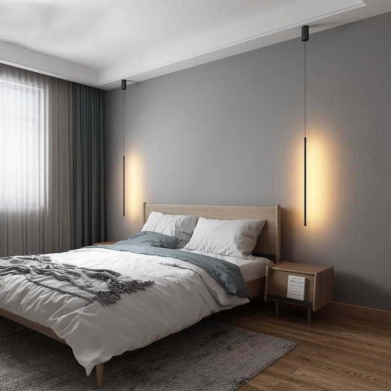 Modern LED Pendant Lights Suspended Nordic Loft Dimming Pendant Lamp Living Room Bedside Lamp Hanglamp Kitchen Light Fixtures
