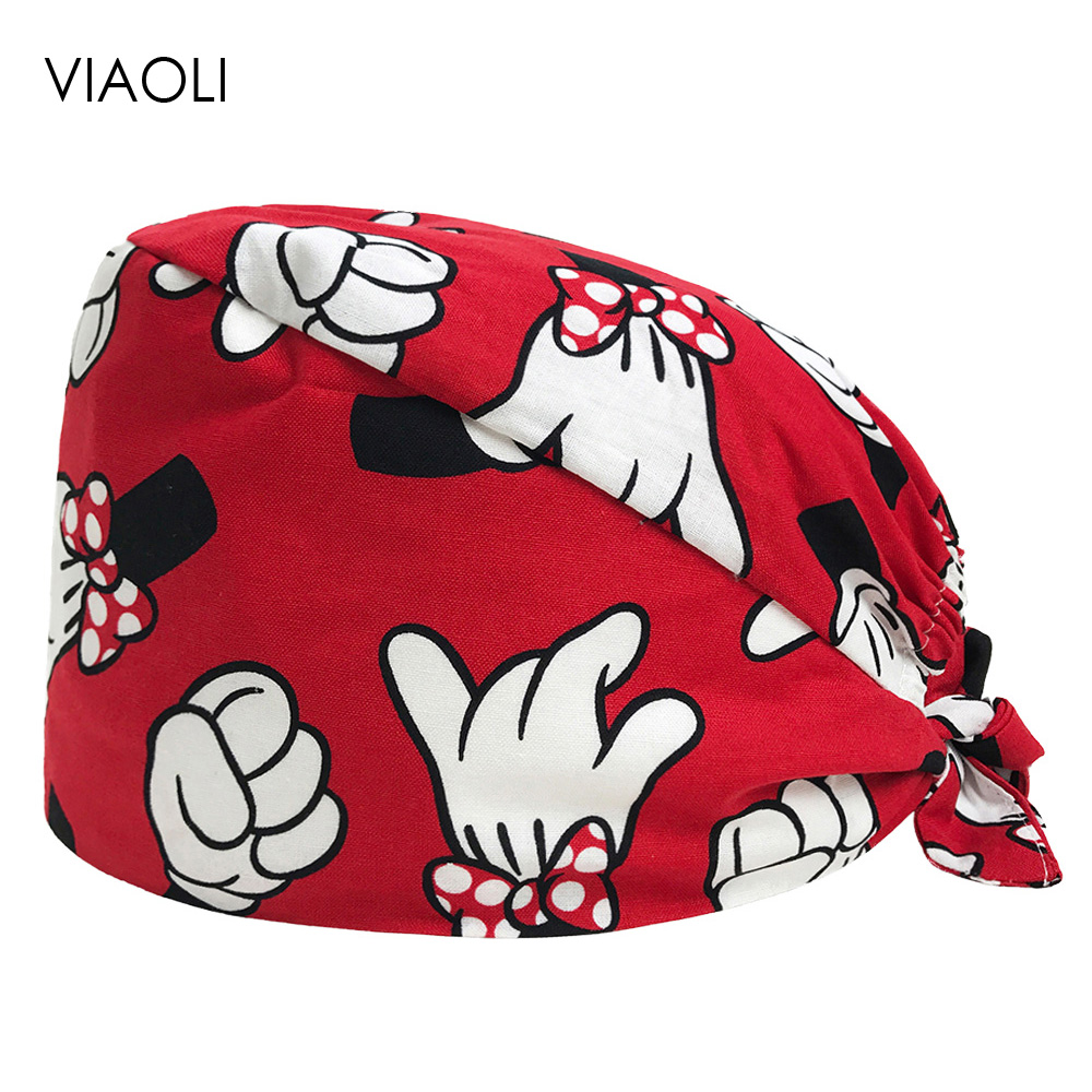 VIAOLI Men Women Medical Scrubs Pharmacy Work Cap Surgery Nurse Hat Oral Cavity Dental Clinic Pet Veterinary Surgical Cap041