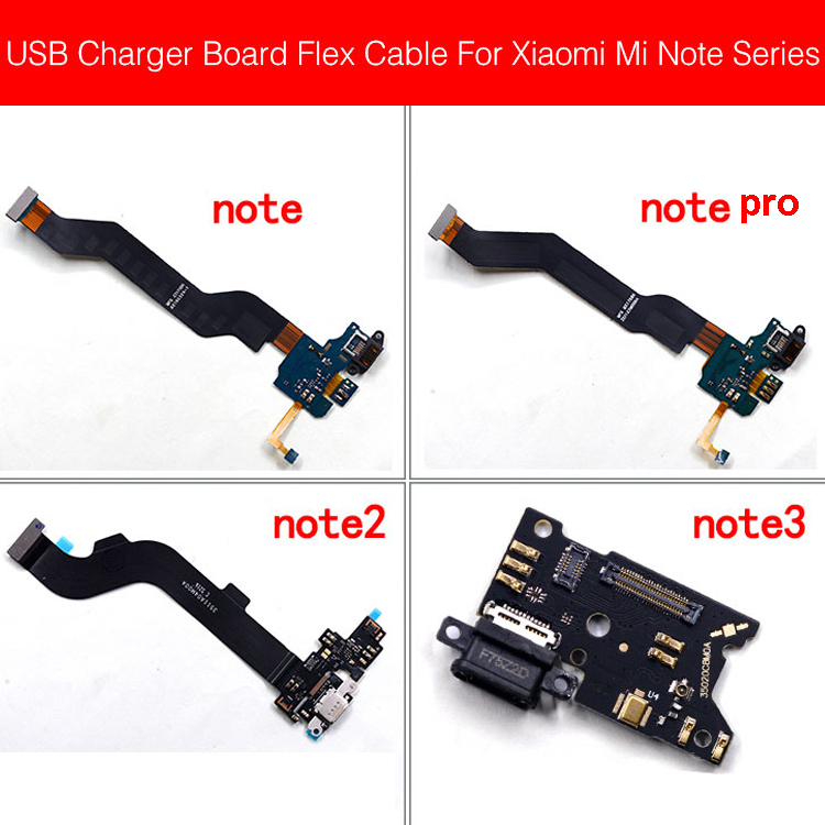 USB Charging Jack Dock Board For Xiaomi Mi Note 2 3 Pro USB Charger Port Flex Ribbon Cable Phone Replacement Repair Parts