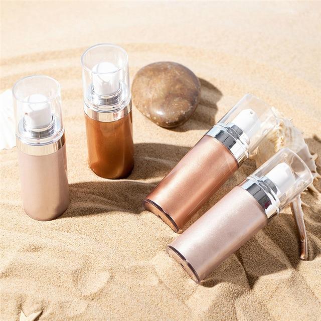 Brighten Glow Makeup Face Bronzer Highlighter Liquid Setting Spray Illuminating Face Shimmer Long-lasting Face Glow Highlighter Beauty & Health