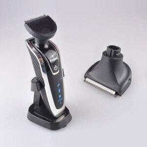 Image 3 - Kemei חשמלי מכונת גילוח לגברים נטענת 4 ב 1 צף ארבעה להב שיער גילוח החלפת מכונת גילוח הראש D40