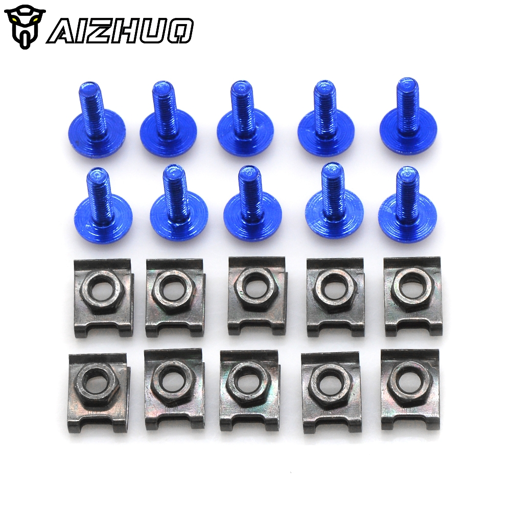 Motorcycle Fairing Bolts Screw Body Clip Screws Nuts For Yamaha SR500 RD RD250 RD400 C/D/<font><b>E</b></font>/F DT125LC MK2 MK3 SR 500 RD 250 400 image
