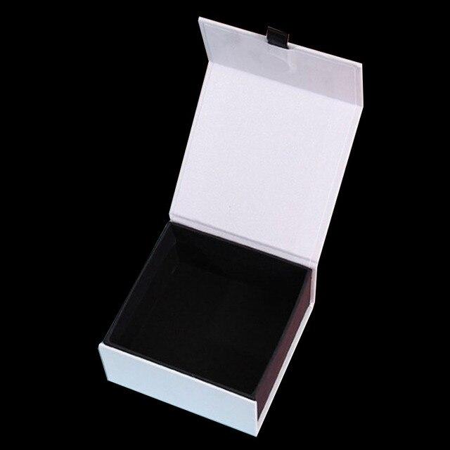 Pudełko na biżuterię logo na zamówienie 5*5.5*4.5cm zawieszki pudełko na kolczyki z pierścieniami magnetycznymi naszyjnik pudełko na biżuterię pudełko na biżuterię