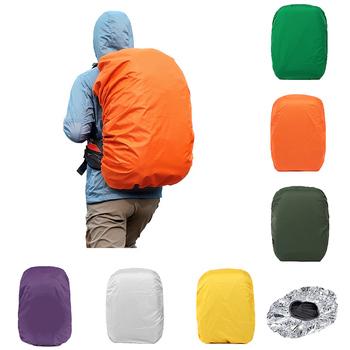 Plecak pokrowiec przeciwdeszczowy wodoodporny pokrowiec na plecak piesze wycieczki na rowerze jednokolorowy odporny na deszcz sprzęt przeciwdeszczowy pokrowiec przeciwdeszczowy tanie i dobre opinie Backpack Cover Poliester