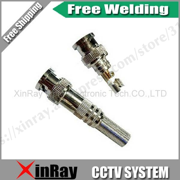 Free Shipping  High Qality 20pcs Free Welding BNC Male Connector ,CCTV Camera Accessories,Wholesale XR-AC1