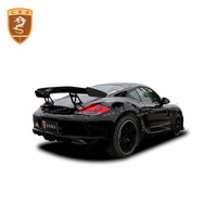 Fit for Porsche Boxster Cayman 987 09 12 FRP front bumper rear diffuser rear spoiler wings Car body kit GT4 style