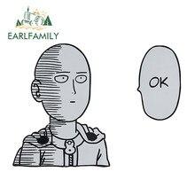 Earlfamily 13cm x 9.6cm para um homem soco saitama ok etiqueta do carro pára-choques decalque impermeável adesivos de carro reflexivo dos desenhos animados anime