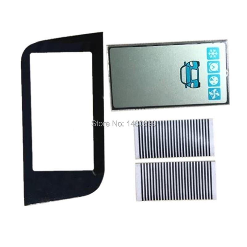 Wholesale 2 Pcs/lot A93 Lcd Display + Keychain Glass Case For Starline A93 GSM Lcd Remote Control 2 Way Car Alarm System