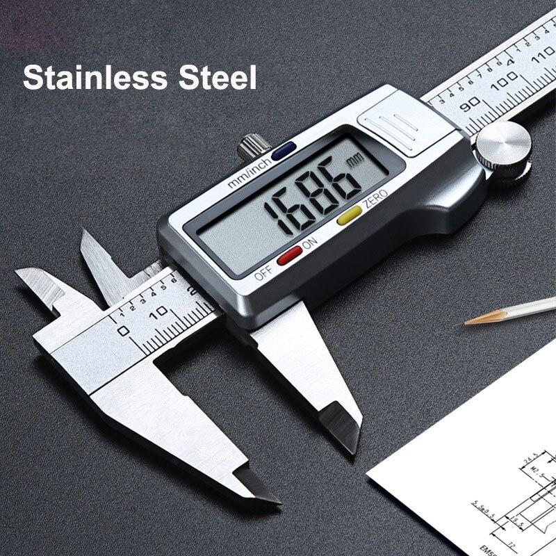 6 дюймов/150 мм штангенциркуль металлический Деревообрабатывающие инструменты измерительное оборудование линейка цифровой пахиметр плотни...
