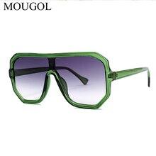 MOUGOL Eastway Oversized Sunglasses Women Retro Brand Designer Gradient Men Vintage Tone Glasses Large Frame