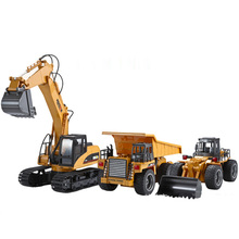 Remote Control Excavator Alloy Version Wireless Remote Control Car Simulation Engineering Vehicle Excavator Children Toy Wltoys simulation 2 4g remote control car bus school bus wireless remote control toy car rechargeable model car children s toy gift