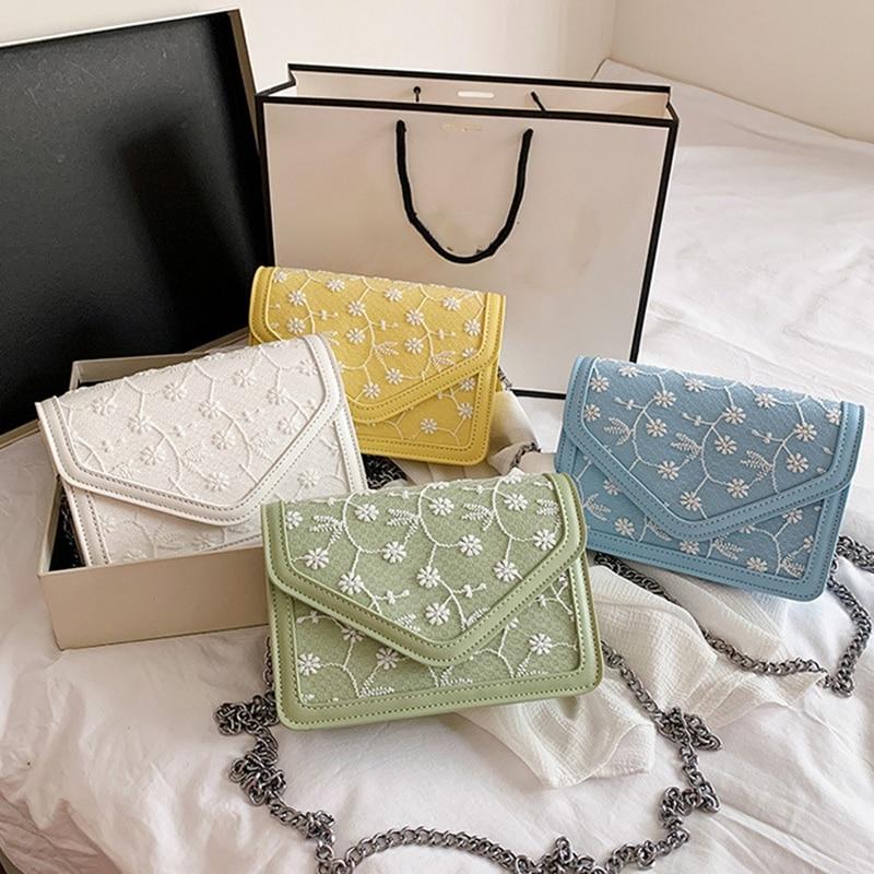 ASDS-Luxury Lace Women's Messenger Bag Fashion Chain Shoulder Bag Mini Evening Dress Handbag Female Wallet