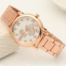 Ladies Elegant Wrist Watches for Women Stylish Bracelet Rhinestones Analog Quartz Watch Women's Crystal Small Dial Reloj
