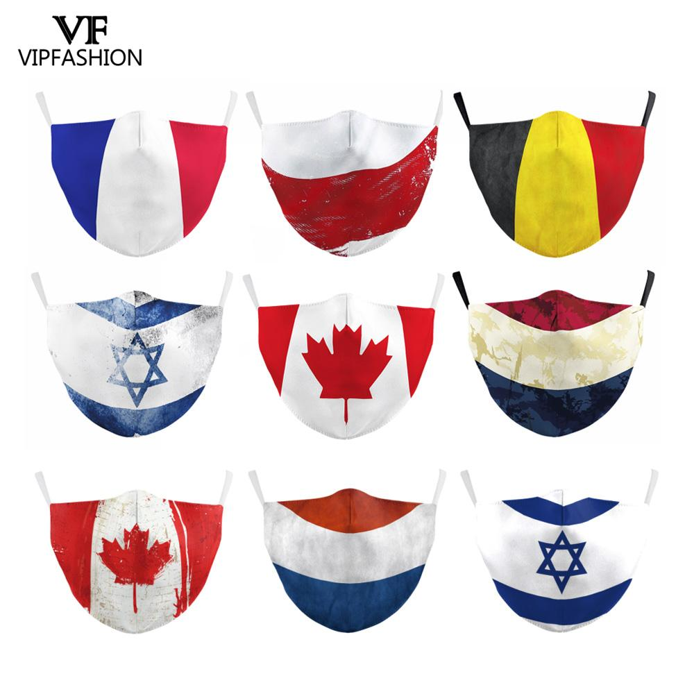 VIP FASHION Adults Reusable Forza Italy Spain Flag Print Mask Protective PM.25  Reusable Mask Proof Washable Face Mouth Mask