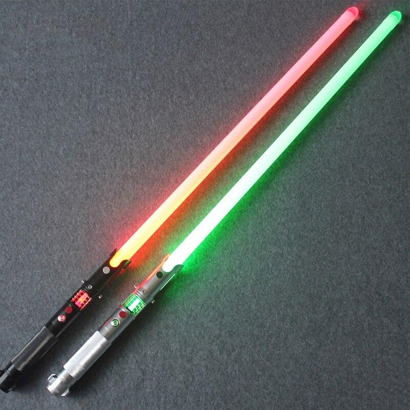 Crystal Lightsaber With Sound 12W LED Changing Color RGB Saber Metal Handel Stick Sword Toys Kid Gifts