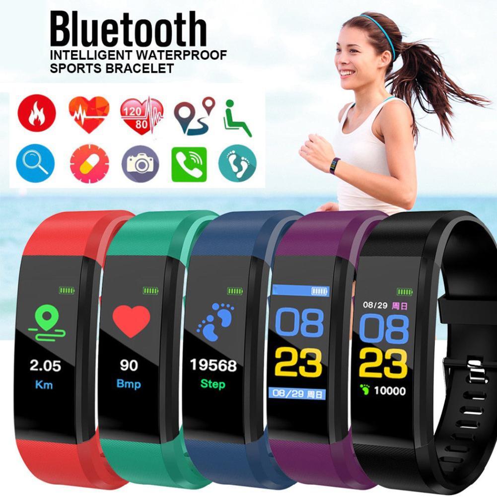 ID115 Plus Color Screen Waterproof Blood Pressure Measurement Heart Rate Blood Pressure Monitor Fitness Smart Bracelet