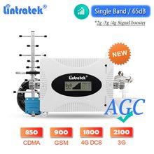 Lintratek – répéteur de Signal AGC 2G GSM 900 3G WCDMA 2100 UMTS B5 850 4G LTE 1800 DCS amplificateur de téléphone portable, ensemble nouveau
