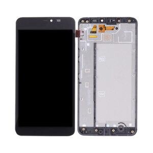 Image 5 - Orijinal NOKIA Microsoft Lumia 640 XL için LCD dokunmatik ekran Digitizer meclisi Nokia 640xl ekran FrameRM 1068 RM 1066