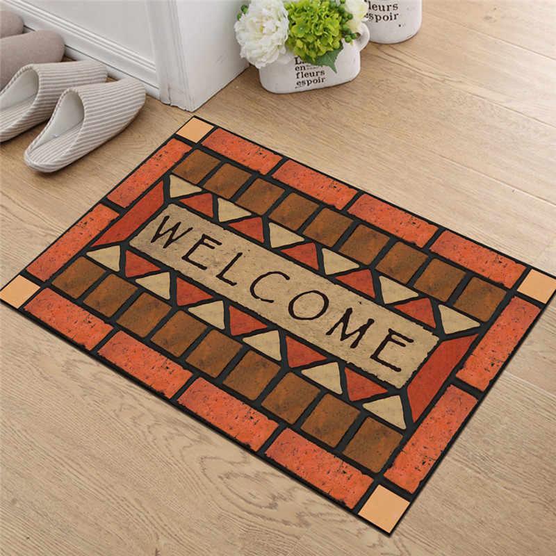 Home Welcome Doormat For Entrance Front Door Mats Outdoor Indoor Letters Printed Floor Mat Kitchen Carpet Rug Non Slip Area Rugs Aliexpress