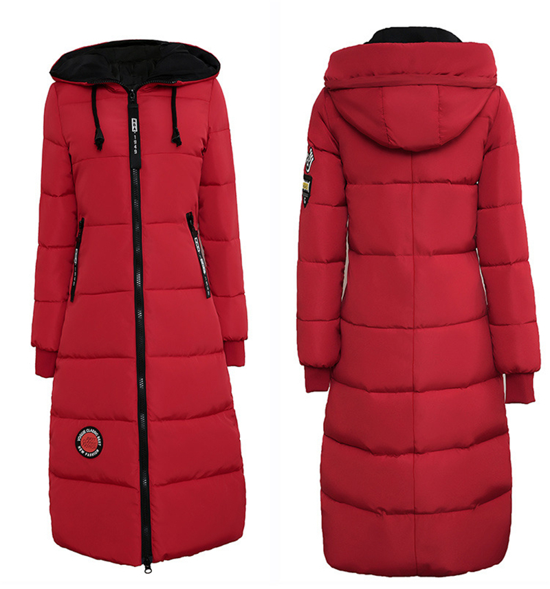 Parkas Basic Winter Puffer Down Jackets Female Lady Plus Size Long Hooded Down Coats Daily Windproof Warm Outwear