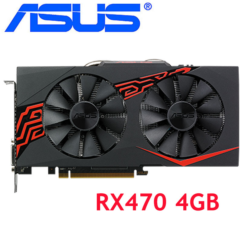 ASUS Video Card RX 470 4GB 256Bit GDDR5 Graphics Cards for AMD RX 400 series VGA Cards RX470 4GB DisplayPort 570 580 480 Used|Graphics Cards| - AliExpress