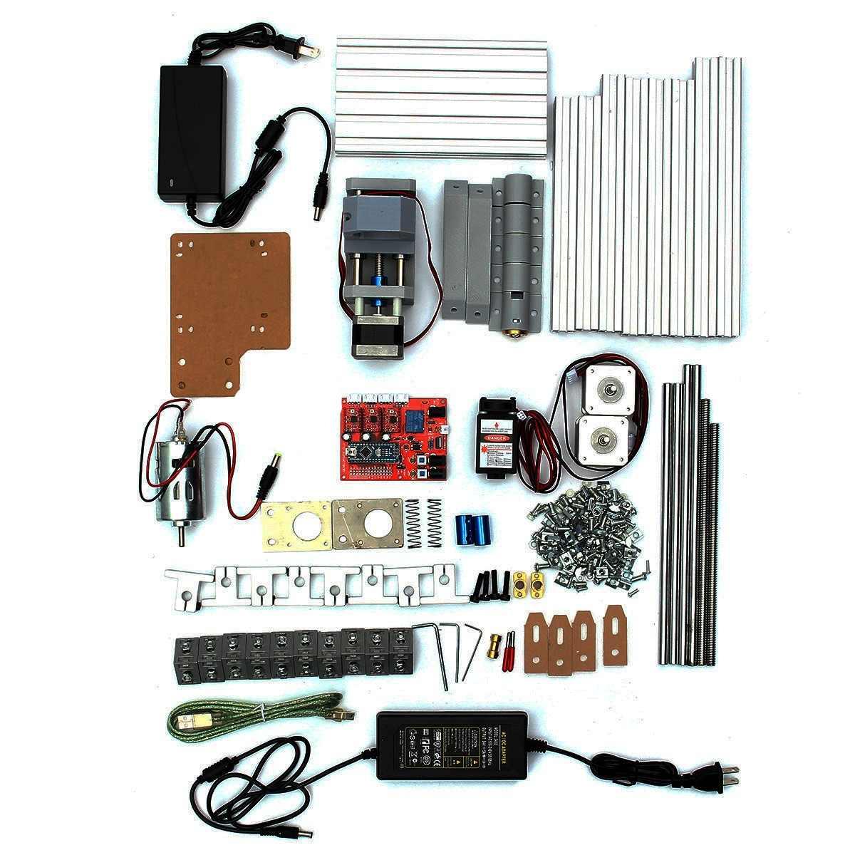 Mini 3 grabador láser máquina cc 12V DIY cortador de madera de escritorio/impresora/potencia ajustable con cabezal láser de 500MW - 3