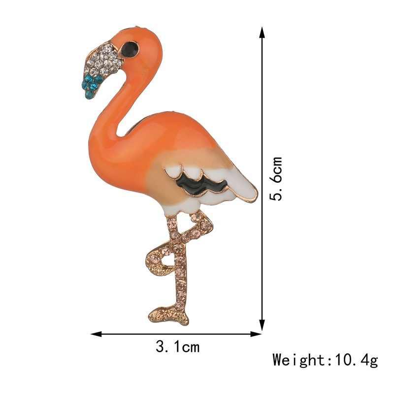 Gariton Фламинго новый костюм рубашка пальто аксессуары цвет Эмаль Булавка птица Женская булавка брошь