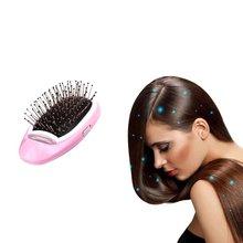 Электрическая Ионная Щетка для волос, Выпрямитель волос с отрицательными ионами, массажная Антистатическая расческа для прямых волос, для укладки волос