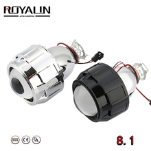 цена на ROYALIN Newest Lenses 2.5'' Bi-xenon HID H1 Projector Lens LHD VER 8.1 for H1 H4 H7 Auto Lights Retrofit Car-styling Use H1 bulb