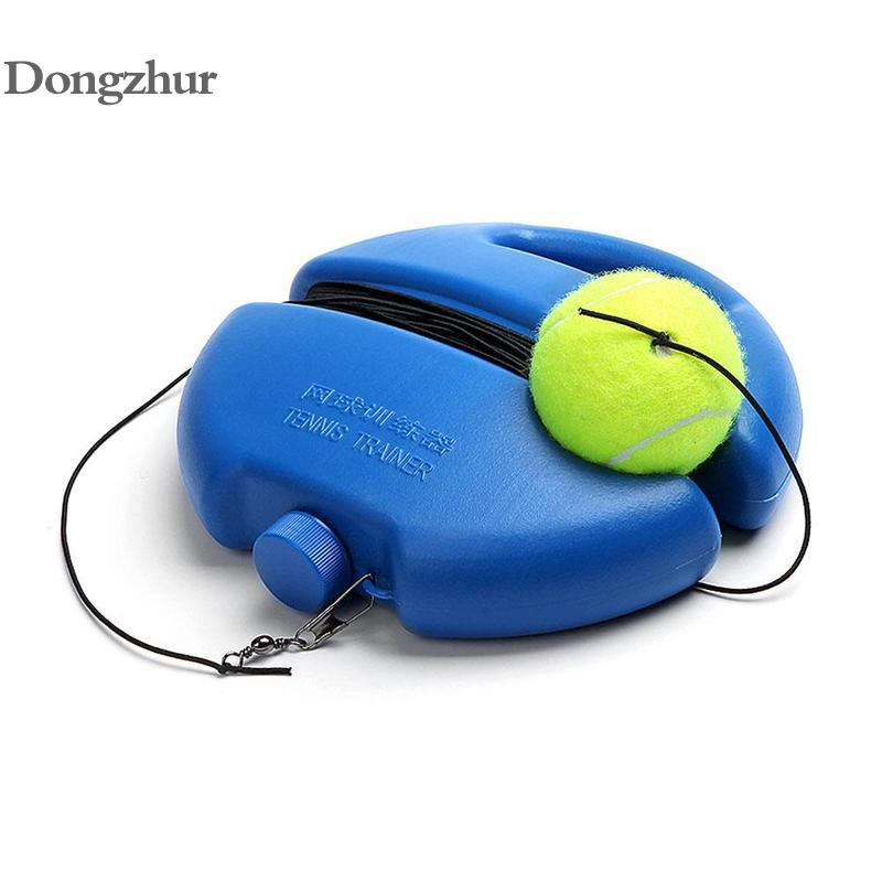 Heavy Duty Tennis Training Aids Tool With Elastic Rope Balls Practice Self-Duty Rebound Tennis Trainer Partner Sparring Device
