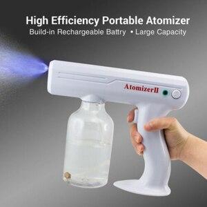 800ML Handheld Sanitizer Sprayer Atomization Disinfection Blue Light Nano Steam Gun Sterilizing Nano Spray Gun For Home Office