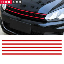 Car Strip Sticker Reflective Stickers Front Hood Grille Decals Car Styling Auto Decoration General For BMW BENZ VW AUDI