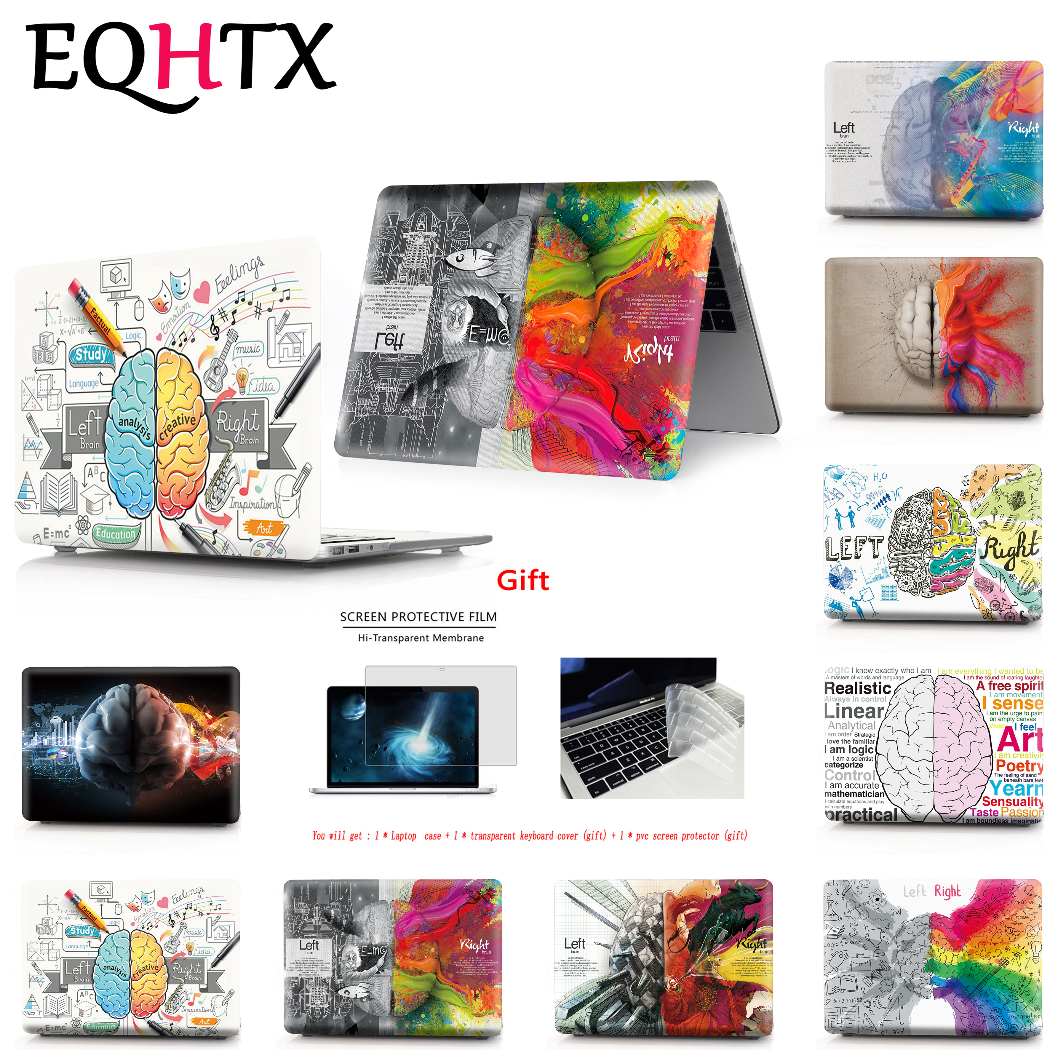 Brain Color Printing Case For Macbook New Air Pro 13 15 Touch Bar Laptop Case For Mac Book Air Pro Retina 11.6 12 13.3 15.4 Inch