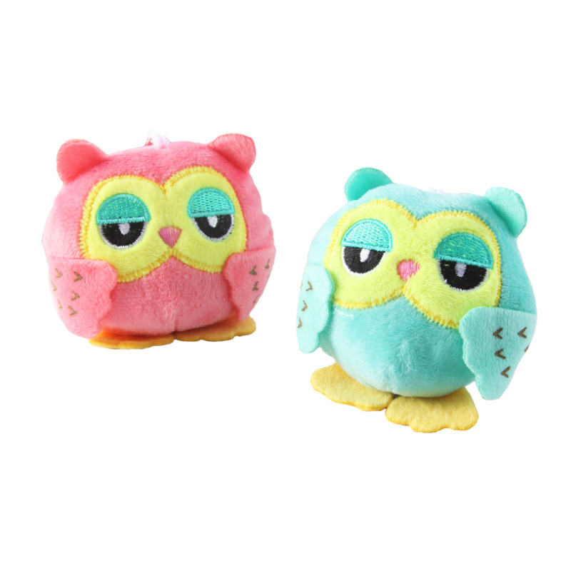Mini Plush Toy Doll Cartoon Cute Owl Keychain Toys Kawaii Owl 10CM New Stuffed Toy Doll Gift Stuffed Animals For Children