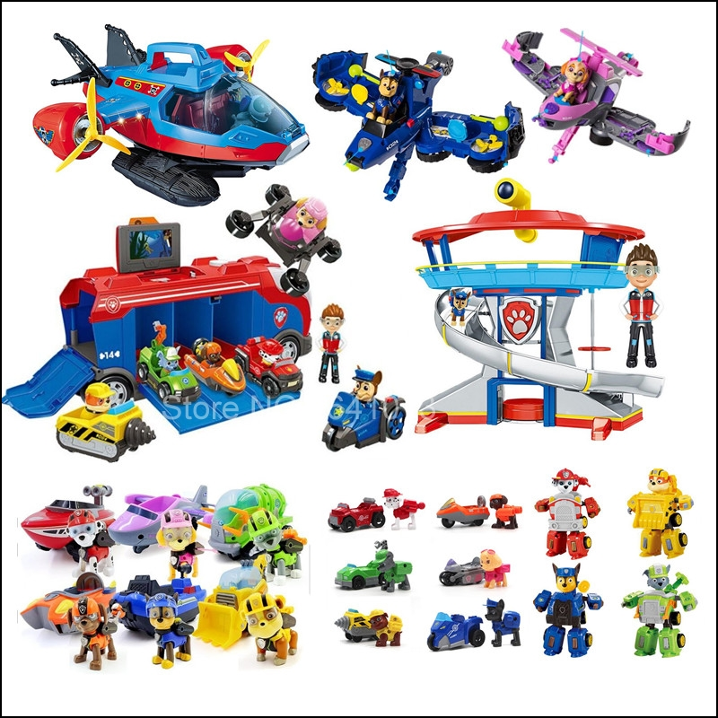 Приклеенная подводная лодка, патрульный автобус, собачья башня, спасательный самолет, морской корабль с собакой, игрушечный набор, детская развивающая игрушка, подарок|Игровые фигурки и трансформеры|   | АлиЭкспресс