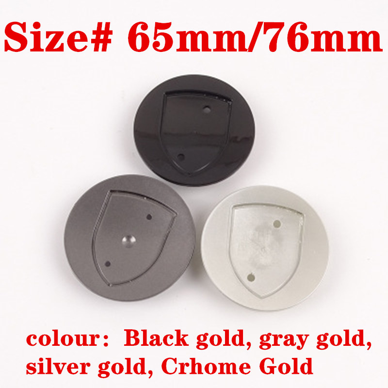 4pcs 65MM 76MM 10Clips 3D Gold Or Silver Crest Logo Badge Wheel Center Hub Cap Cover Emblem Wheel Rims For Macan S Turbo 911