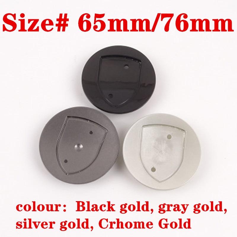 4pcs 65MM 76MM 10Clips 3D Gold Or Silver Crest Logo Badge Wheel Center Hub Cap Cover Emblem Wheel Rims For Macan S Turbo 911