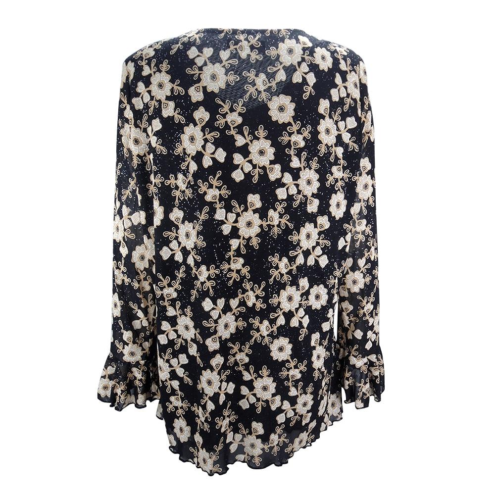 Image 2 - YTL Womens Plus Size Elegant Mature Floral Loose Tunic Top Shirt Sleeve Oversize Blouse Holiday Summer Shirt 6XL 7XL 8XL H036blouse shirtoversized blouseblouses plus -