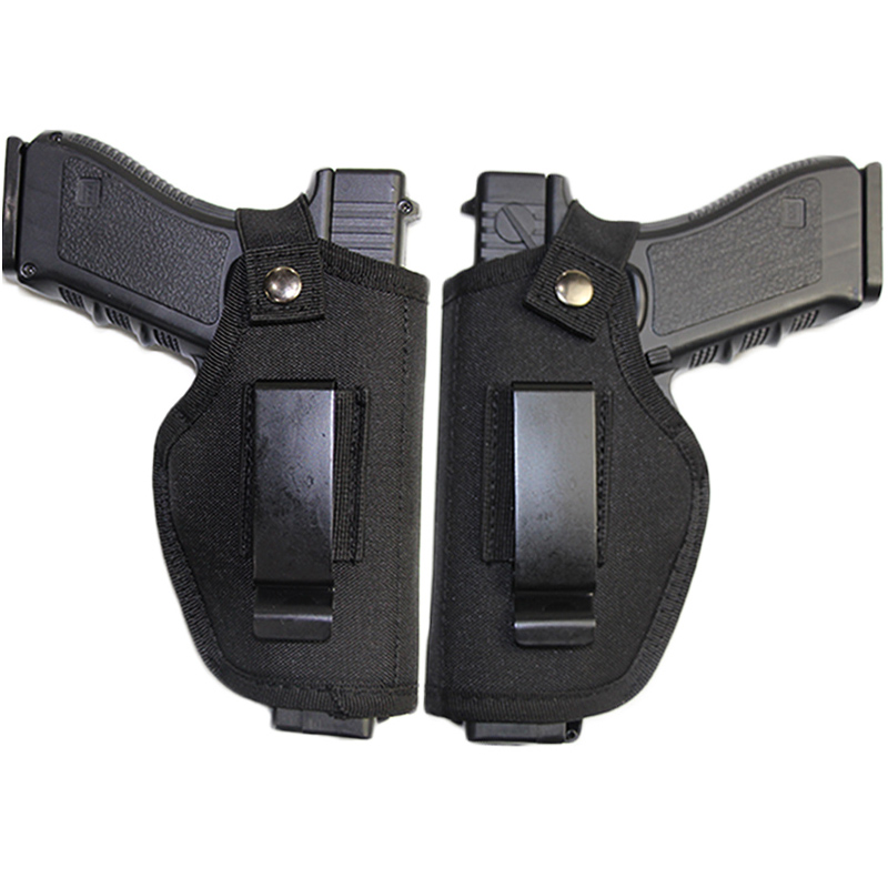 Tactical Left Right Hand Gun Holster Airsoft Concealed Carry Holsters Belt Clip Adjustable Pistol Universal Gun Holster Bag Case