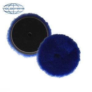 Image 3 - Volodymyr وسادة تلميع 6 بوصات مع خطاف وحلقة ، ملحق تلميع السيارة ، أزرق ، مع خطاف 5 بوصات